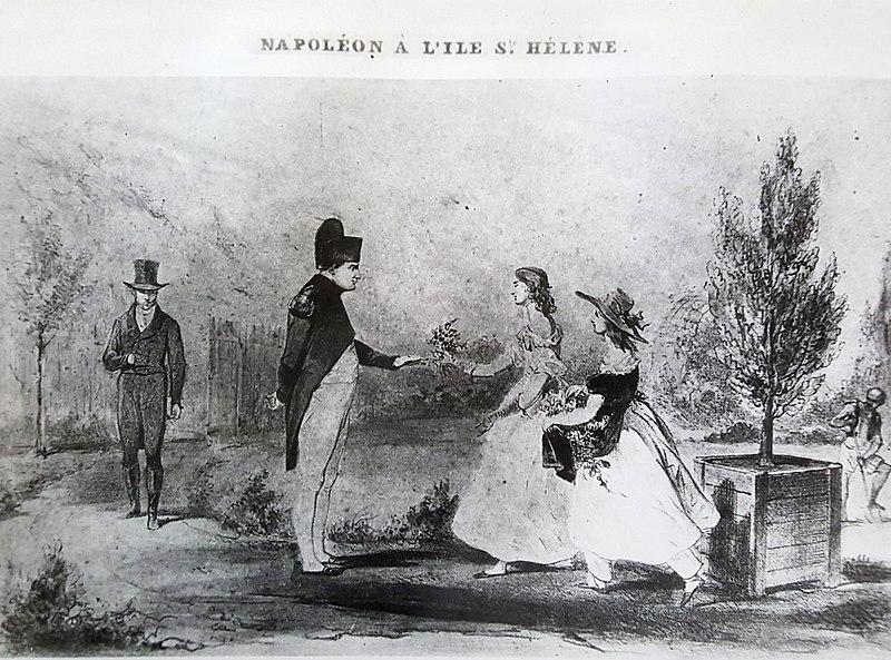 Hudson Lowe, Betsy Balcombe et Napoléon, à Sainte-Hélène 800px-61