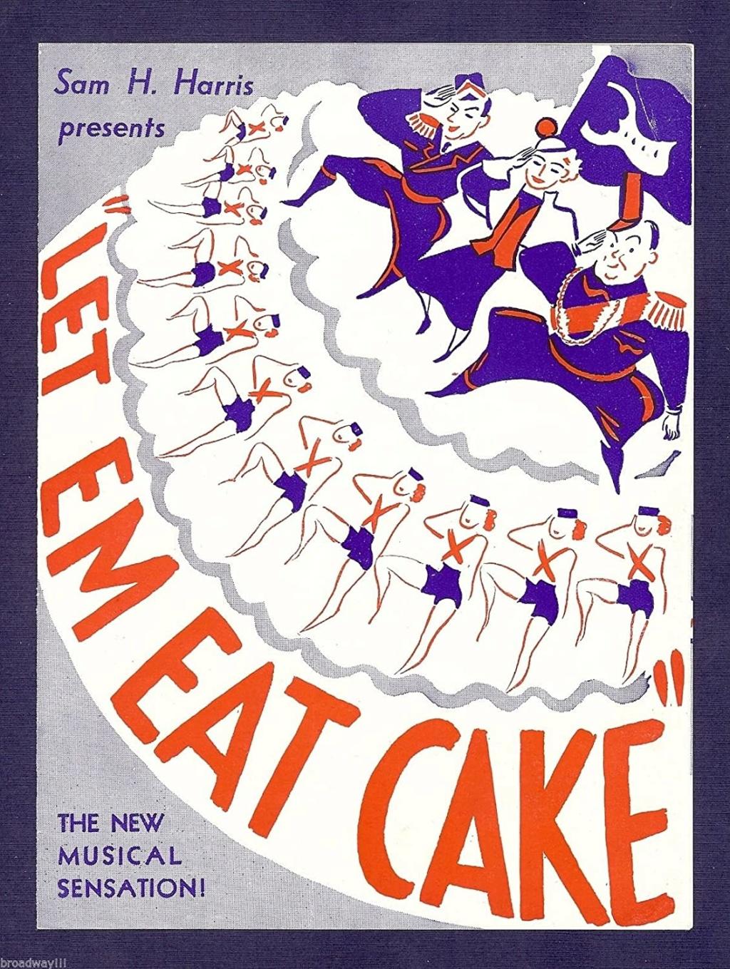 """Une comédie musicale de George Gershwin,    """"  Let 'Em Eat Cake !  """" 91mqkt10"""
