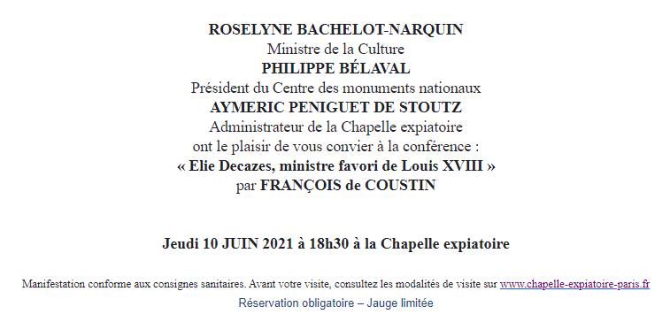 Expositions et conférences à la Chapelle expiatoire, Paris - Page 3 Capt1008