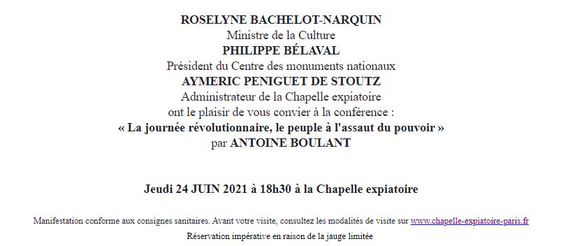 Expositions et conférences à la Chapelle expiatoire, Paris - Page 3 Capt1015