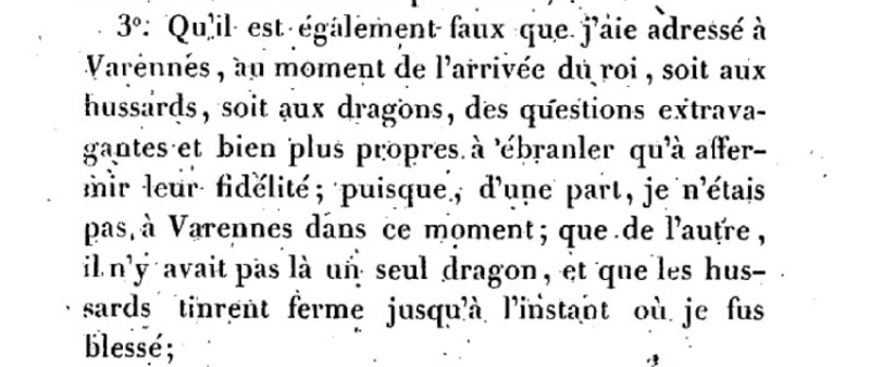 Mémoire du baron de Goguelat, sur les événements relatifs au voyage de Varennes Captu217