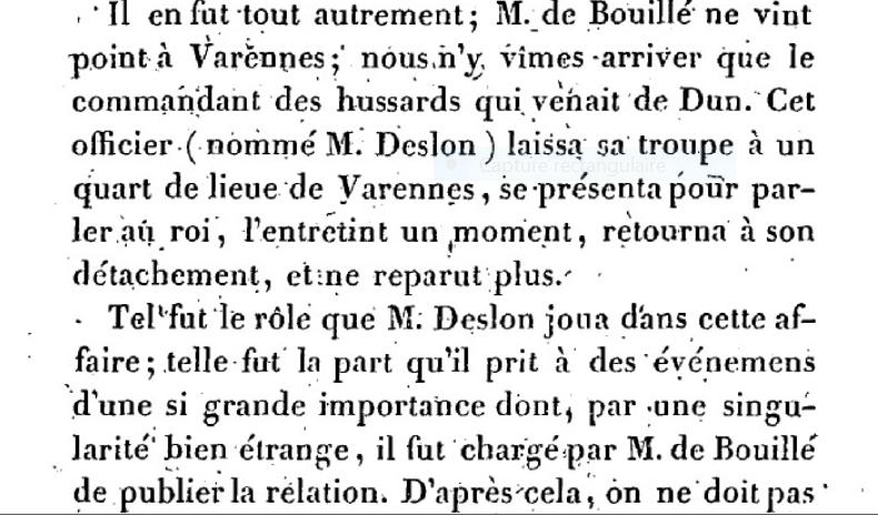 Mémoire du baron de Goguelat, sur les événements relatifs au voyage de Varennes Captu218
