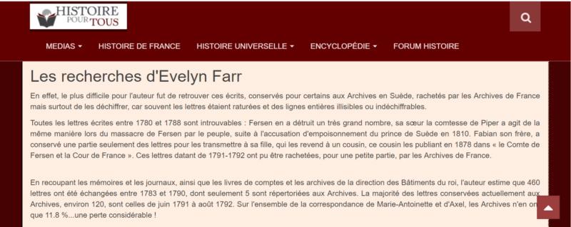 farr - Marie-Antoinette et le comte de Fersen, la correspondance secrète, d'Evelyn Farr - Page 8 Captu278