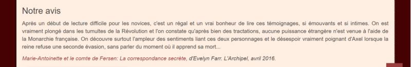farr - Marie-Antoinette et le comte de Fersen, la correspondance secrète, d'Evelyn Farr - Page 8 Captu279