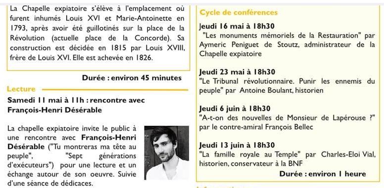 Expositions et conférences à la Chapelle expiatoire, Paris - Page 2 Captu404