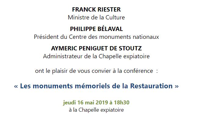 Expositions et conférences à la Chapelle expiatoire, Paris - Page 2 Captu411