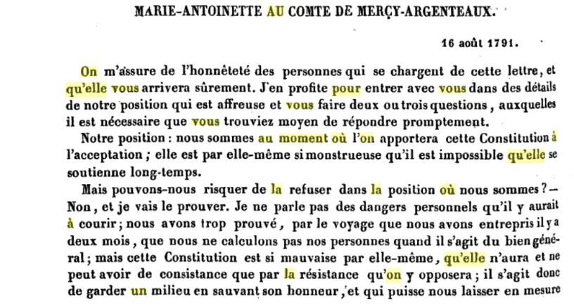 La correspondance de Marie-Antoinette avec le comte de Mercy-Argenteau - Page 2 Captu514