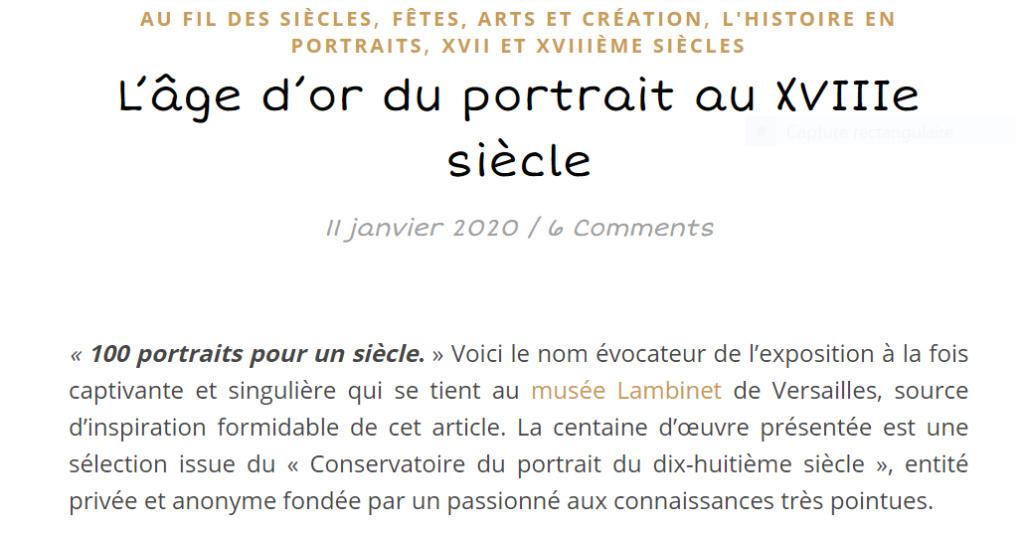 Cent portraits pour un siècle. Exposition au Musée Lambinet (Versailles) et Palais Lascaris (Nice) - Page 2 Captu586