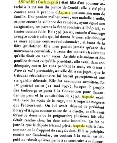 Le1er prairial an III ,  Aspasie Carlemigelli Captu595