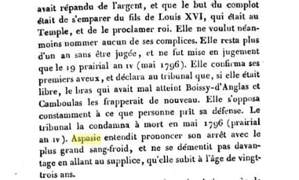Le1er prairial an III ,  Aspasie Carlemigelli Captu596