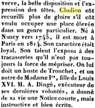 Le sculpteur Claude Michel, dit Clodion  (  1738 - 1814 ) Captu609