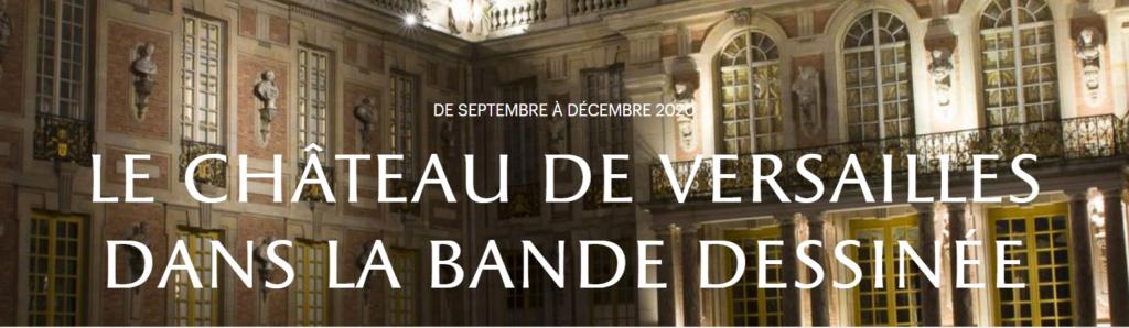 Exposition  LE CHÂTEAU DE VERSAILLES DANS LA BANDE DESSINÉE Captu811