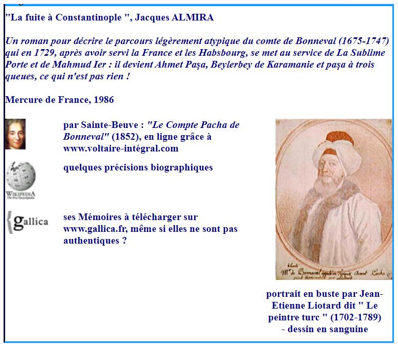 Bibliographie : le comte de Bonneval, futur Ahmed Pacha Captu816