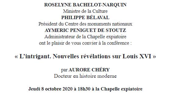 Expositions et conférences à la Chapelle expiatoire, Paris - Page 2 Captu840