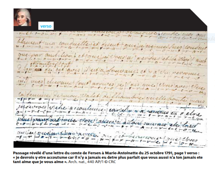 Evelyne Lever Fersen - D'Evelyne Lever, Le grand amour de Marie-Antoinette, lettres secrètes de la reine et du comte de Fersen Captu842