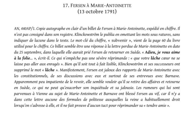 Evelyne Lever Fersen - D'Evelyne Lever, Le grand amour de Marie-Antoinette, lettres secrètes de la reine et du comte de Fersen Captu845