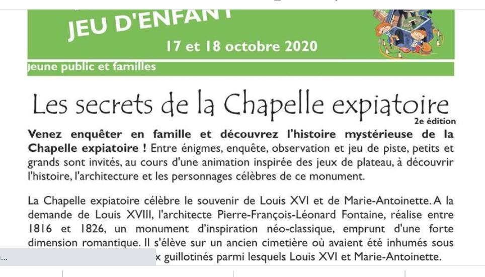 Expositions et conférences à la Chapelle expiatoire, Paris - Page 3 Captu849