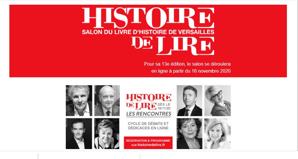Novembre 2020,  13ème édition du Salon du Livre d'Histoire de Versailles Captu860