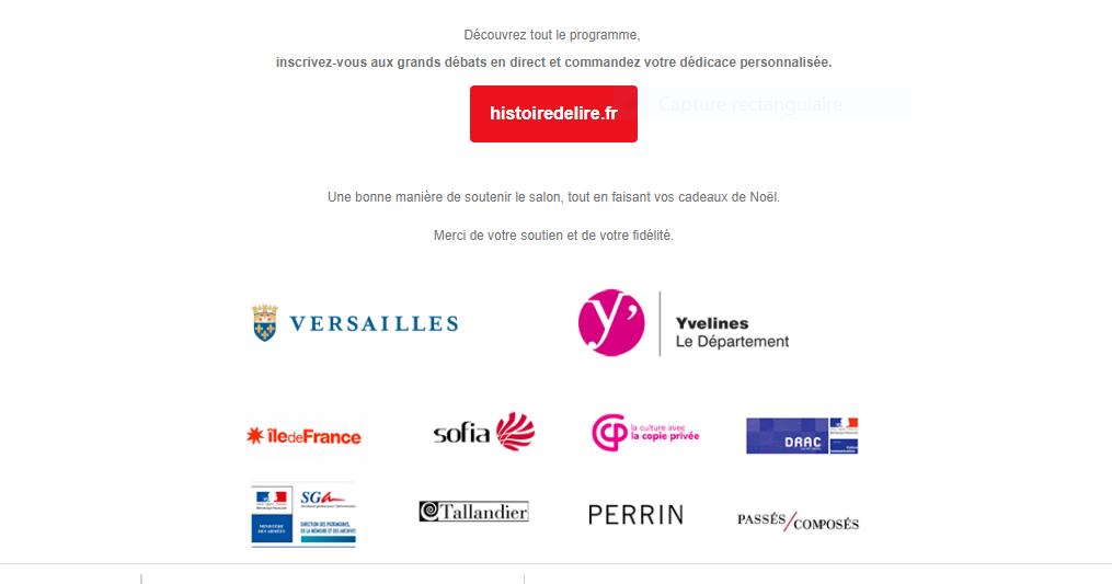 Novembre 2020,  13ème édition du Salon du Livre d'Histoire de Versailles Captu862