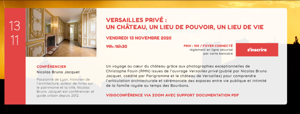 Versailles privé : un château, un lieu de pouvoir, un lieu de vie (Visioconférence le 13 Nov. 2020) Captu866