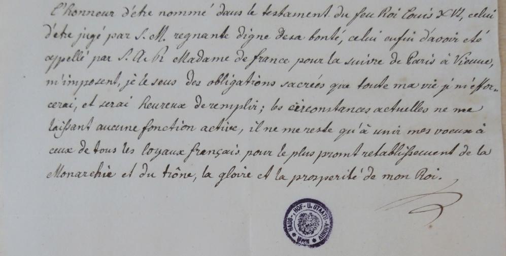 Huissier de la Chambre de Louis XVI :  François Hüe Captur39