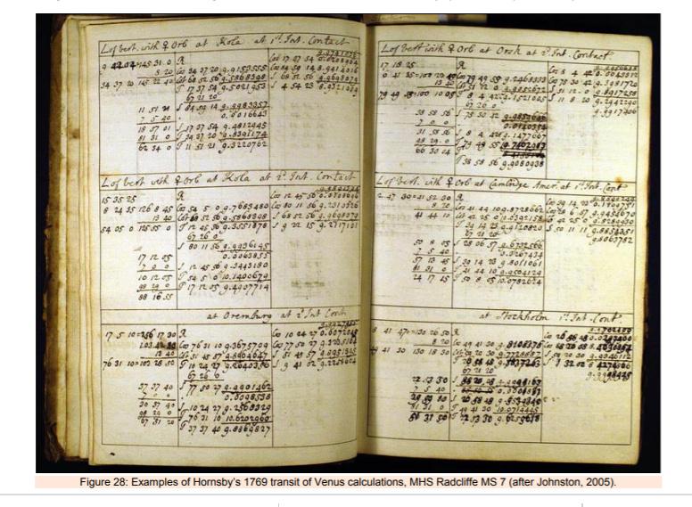 Le transit de Vénus,   en juin 1769 Captur45