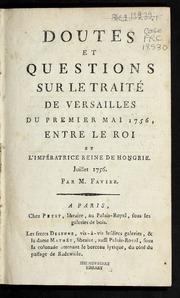 Le traité de Versailles de 1756,  renversement des alliances Doutes10