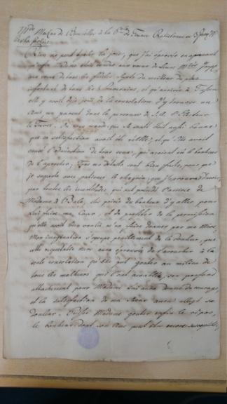 Lettre de la marquise de Bombelles à Madame Royale Dsc_1413