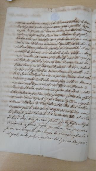 Lettre de la marquise de Bombelles à Mme de Soucy Dsc_1414