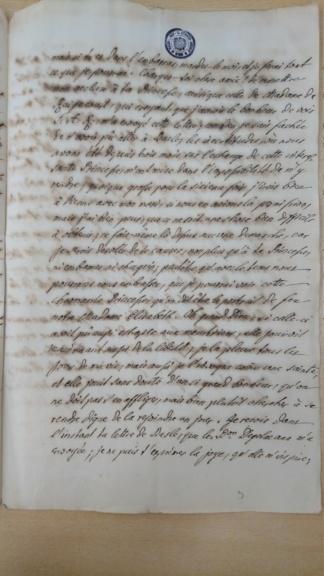 Lettre de la marquise de Bombelles à Mme de Soucy Dsc_1415