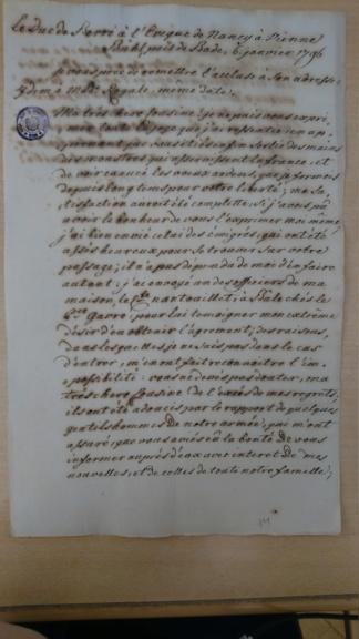 Lettre du duc de Berry à Madame Royale Dsc_1514