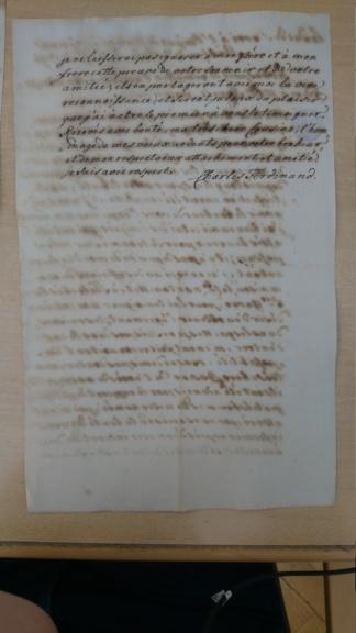 Lettre du duc de Berry à Madame Royale Dsc_1515
