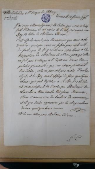 Lettres de Louis XVIII  à Madame Royale Dsc_1554