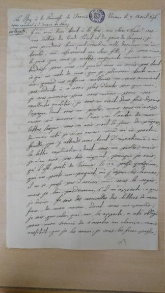 Lettres de Louis XVIII  à Madame Royale Dsc_1618