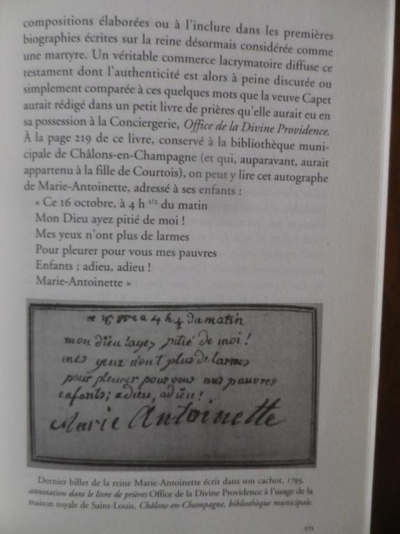 Testament / Lettre de Marie-Antoinette à Madame Elisabeth, le 16 octobre 1793 - Page 2 Imgp0324
