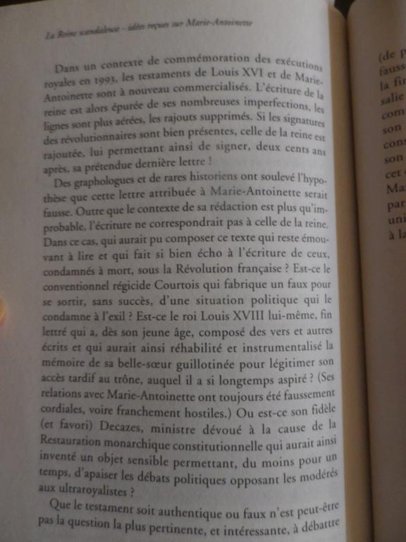Testament / Lettre de Marie-Antoinette à Madame Elisabeth, le 16 octobre 1793 - Page 2 Imgp0325