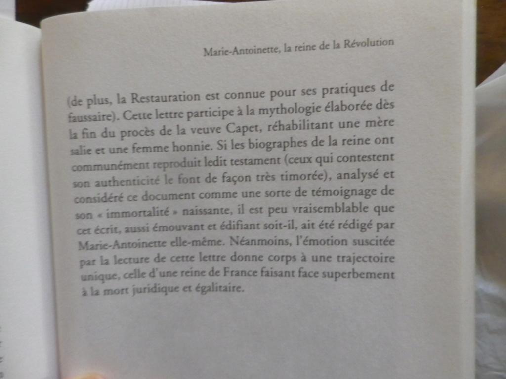 Testament / Lettre de Marie-Antoinette à Madame Elisabeth, le 16 octobre 1793 - Page 2 Imgp0328