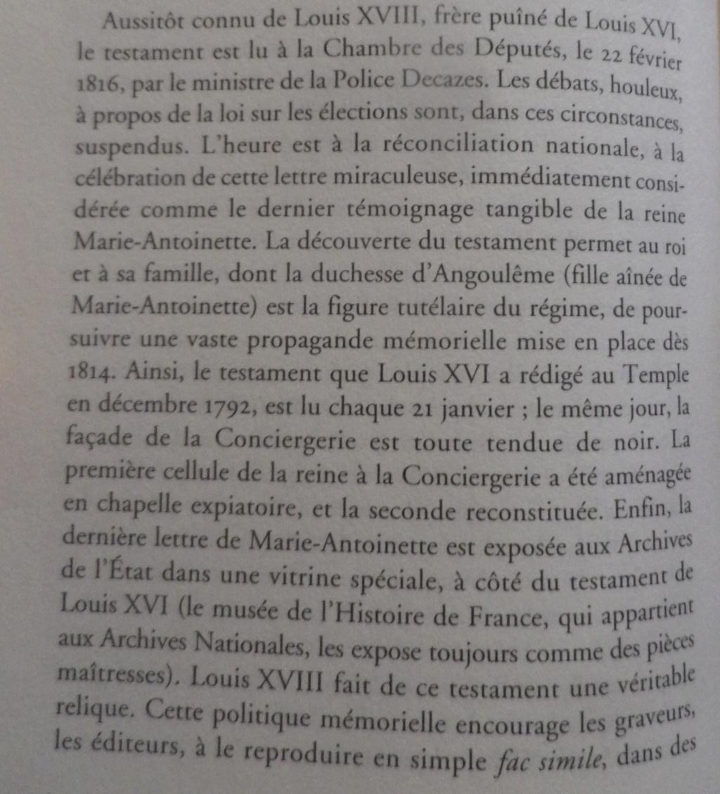 Testament / Lettre de Marie-Antoinette à Madame Elisabeth, le 16 octobre 1793 - Page 2 Imgp0329