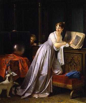 Analyse esthétique du tableau LE PETIT MESSAGER de Marguerite GERARD Le_pet10
