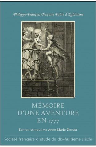 Mémoire d'une aventure en 1777, de Fabre d'Eglantine Memoir10