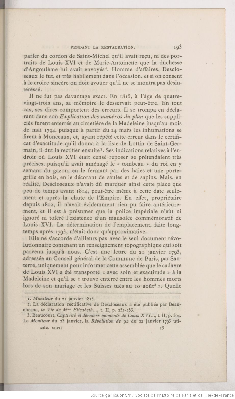 La chapelle expiatoire du square Louis XVI, à Paris - Page 3 Mzomoi13