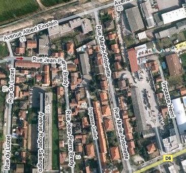 Des rues qui portent le nom de Marie Antoinette Plan1010