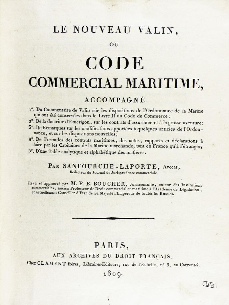 Pierre Sanfourche-Laporte et le Valin, sous Louis XVI Sanfou10