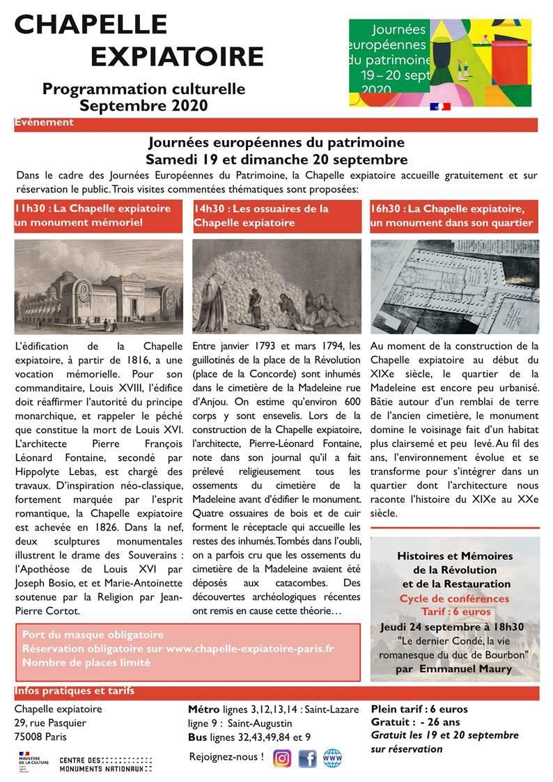 Expositions et conférences à la Chapelle expiatoire, Paris - Page 2 Thumb118