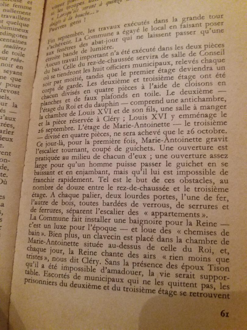 La famille royale à la prison du Temple : plans et aménagements - Page 8 Thumb219