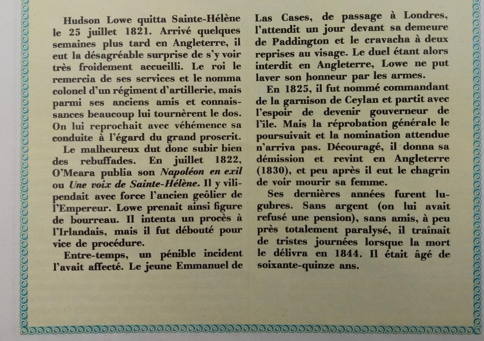 Hudson Lowe, Betsy Balcombe et Napoléon, à Sainte-Hélène Thumb249