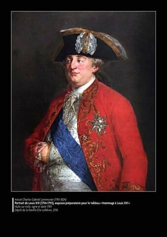 L'« Hommage à Louis XVI », oeuvre aujourd'hui disparue, du peintre Lemonnier .