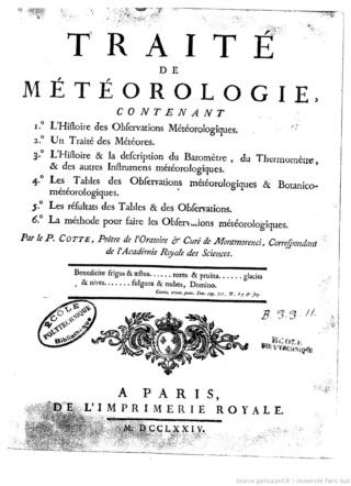 Un pionnier de la Météorologie, l'abbé Cotte ( 1740 - 1815 ) Traitz10