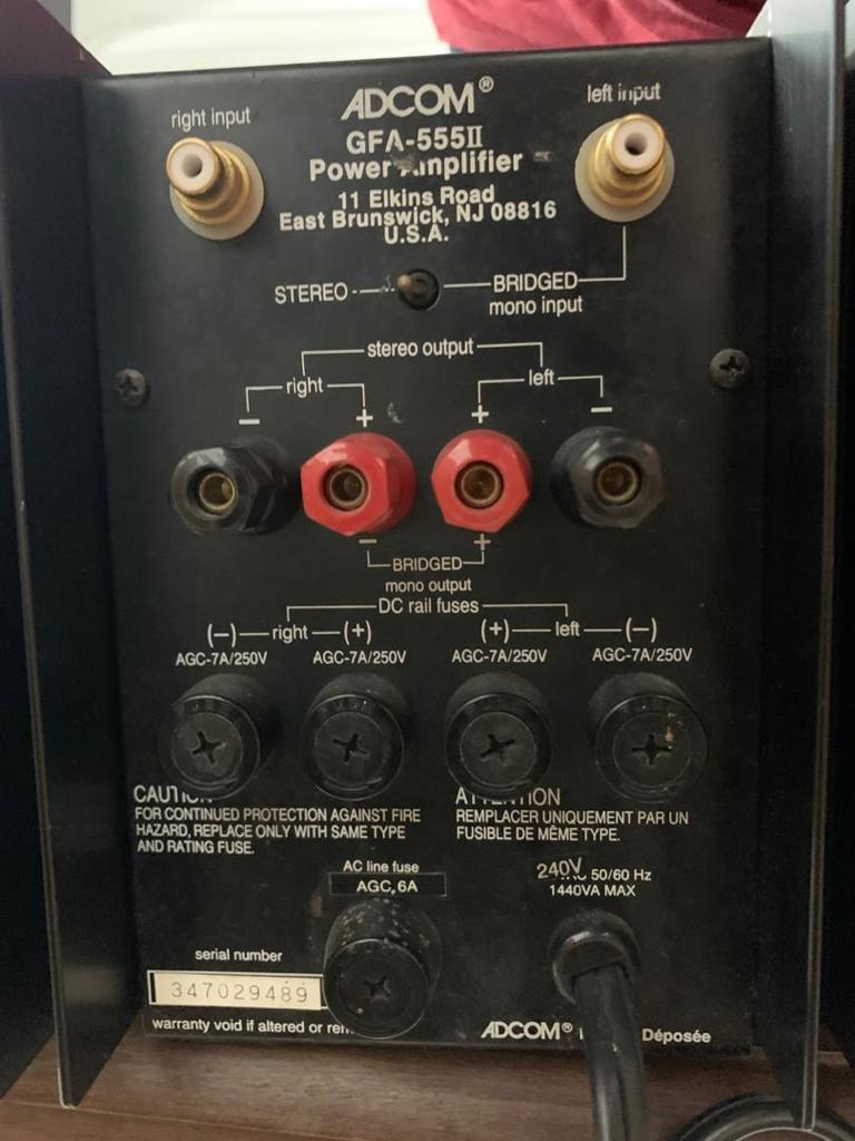 Adcom GFP-555Mk2 Preamp & Adcom GFA-555Mk2 Power Amp 43017810