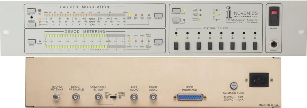 lnovonics 530 - Off-Air FM Modulation studio tuner Monitor 53011